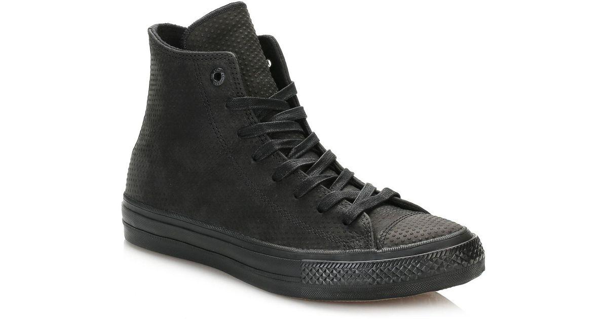 4b6d306e788a Lyst - Converse All Star Chuck Taylor Ii Black Hi Top Trainers in Black for  Men