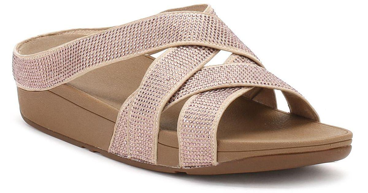 430b689d1c94 Lyst - Fitflop Womens Nude Slinky Rokkit Criss-cross Sandals