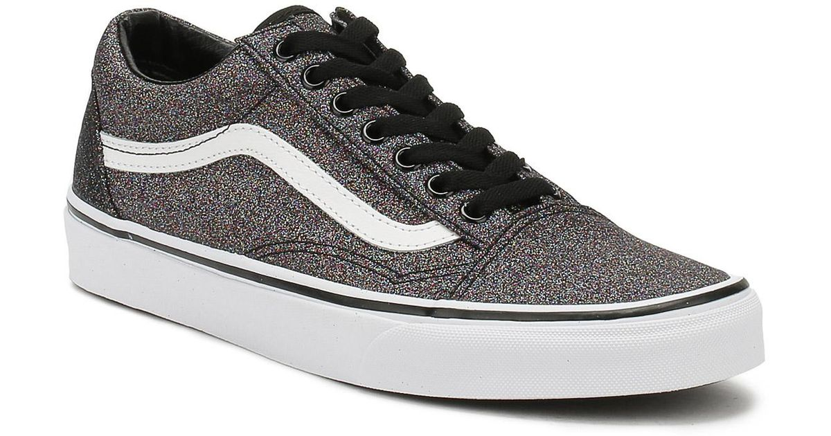 bf4a057f3096 Lyst - Vans Womens Glitter Rainbow Black Old Skool Trainers in Black