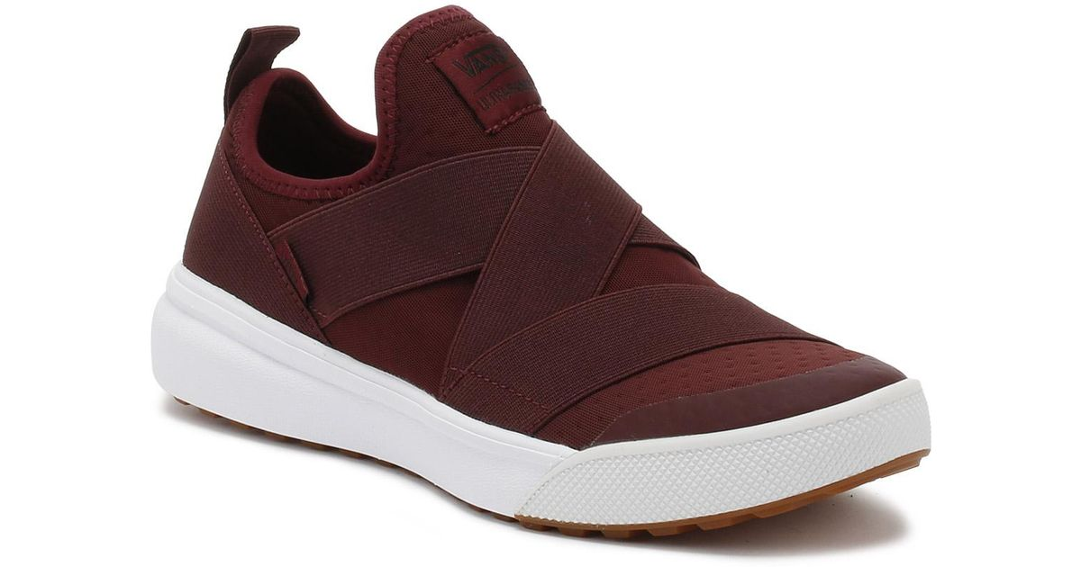 cb617cffdd6 Vans Port Royale Burgundy Ultrarange Gore Trainers in Red - Lyst