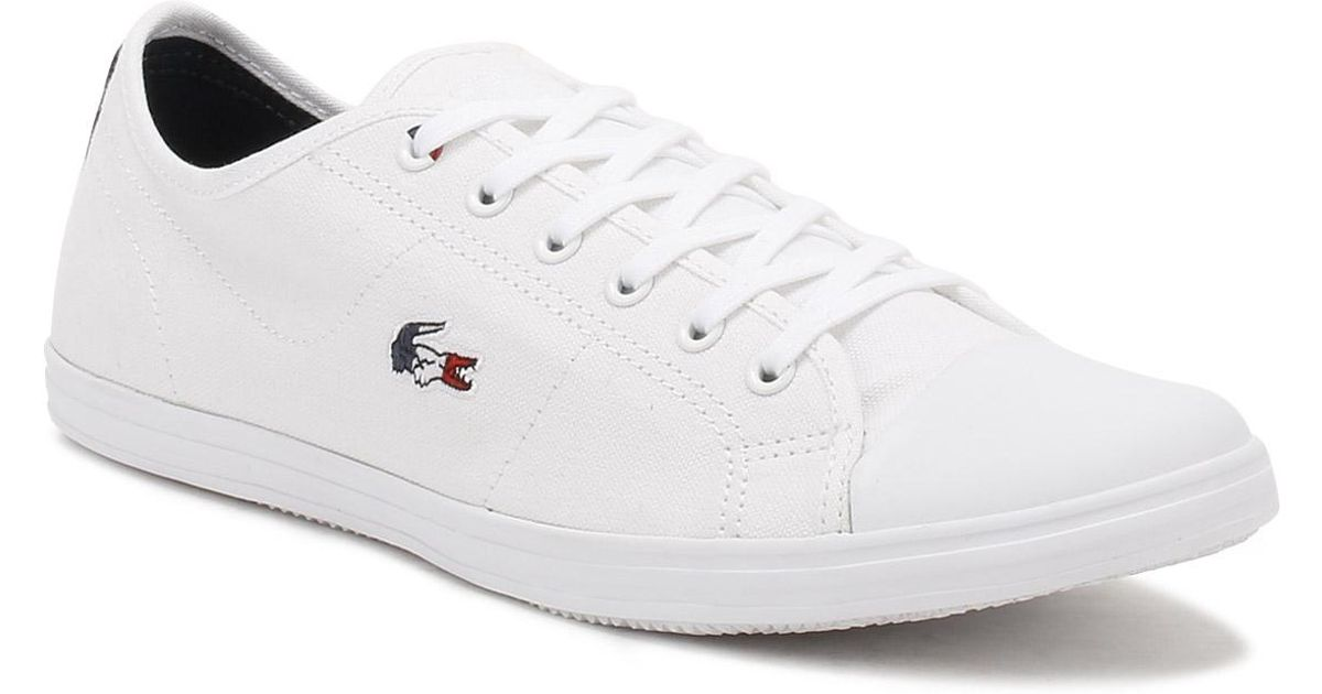 0ed403023 Lacoste Womens White Ziane 317 1 Trainers in White - Lyst