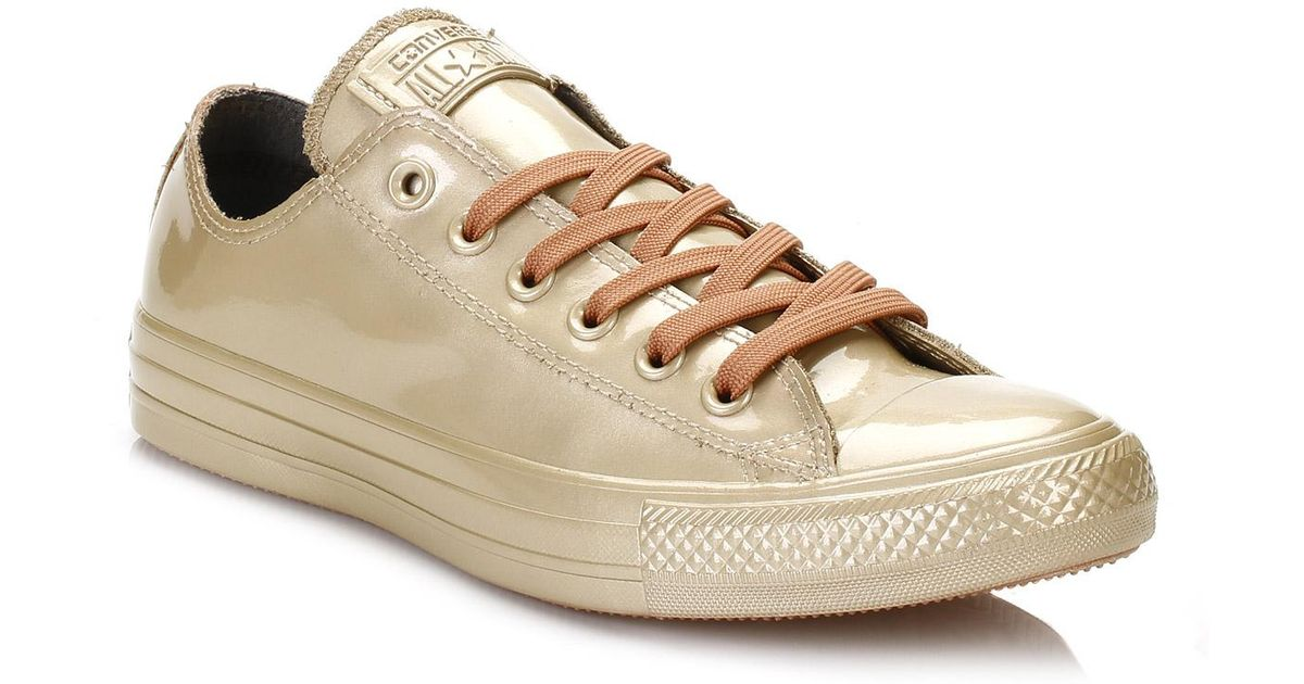 601beb0b8e26 Converse All Star Chuck Taylor Womens Gold Rubber Ox Trainers in Metallic -  Lyst
