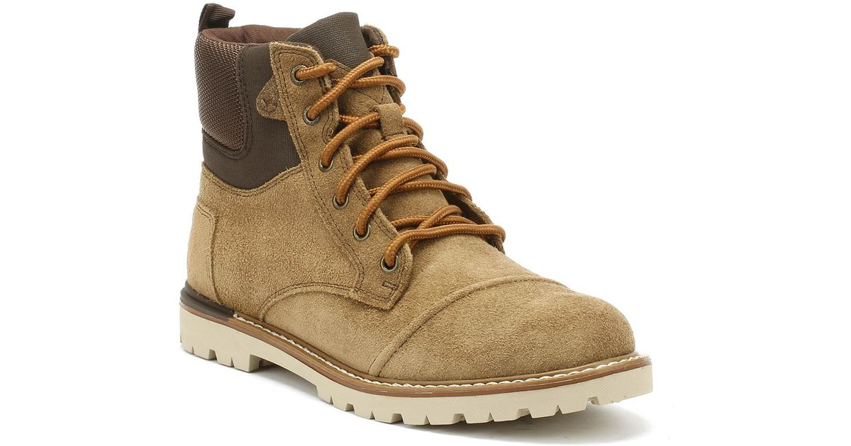 6872e8b45d5 TOMS Ashland Mens Brown Suede Boots in Brown for Men - Lyst