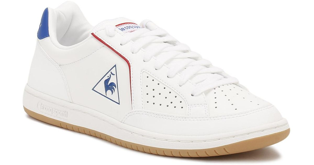 9637948fee09 Le Coq Sportif Mens Optical White   Classic Blue Icons Trainers in White  for Men - Lyst