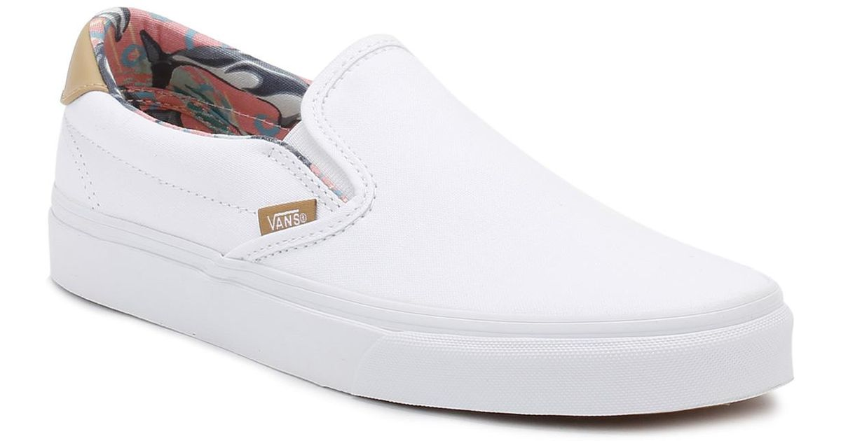 39a7356df693 Lyst - Vans Mens Dolphins true White Slip-on 59 Trainers in White for Men