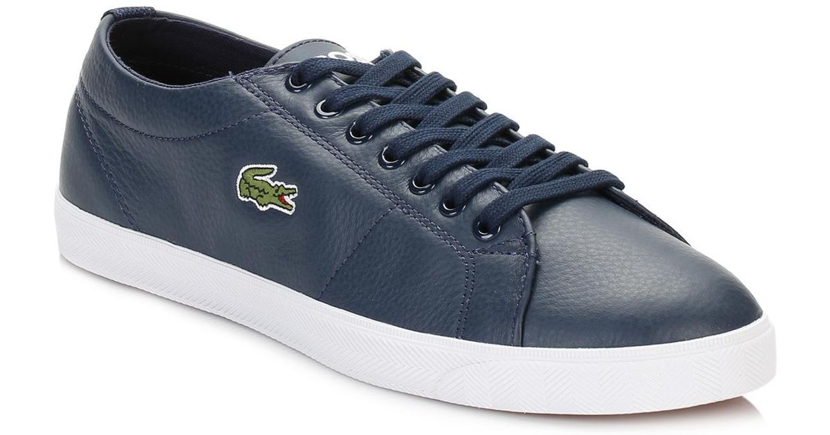 575b46282db772 Lyst - Lacoste Mens Navy Marcel Lcr3 Spm Leather Trainers in Blue for Men