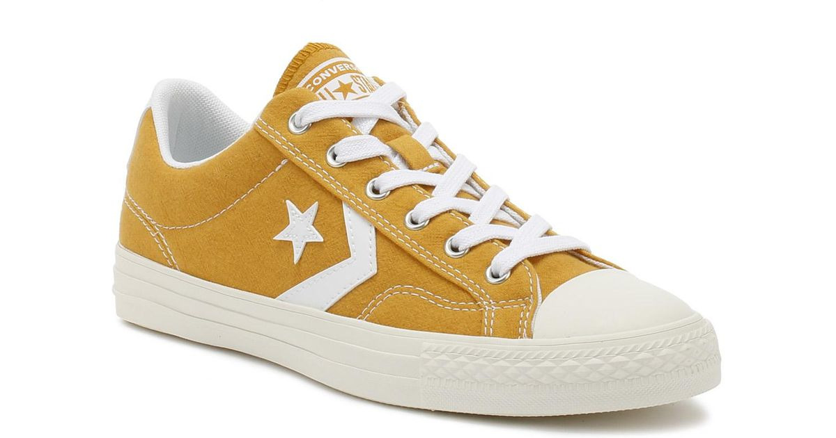 834b29a41a9 Converse Mens Turmeric Gold Star Player Suede Ox Trainers in Metallic for  Men - Lyst