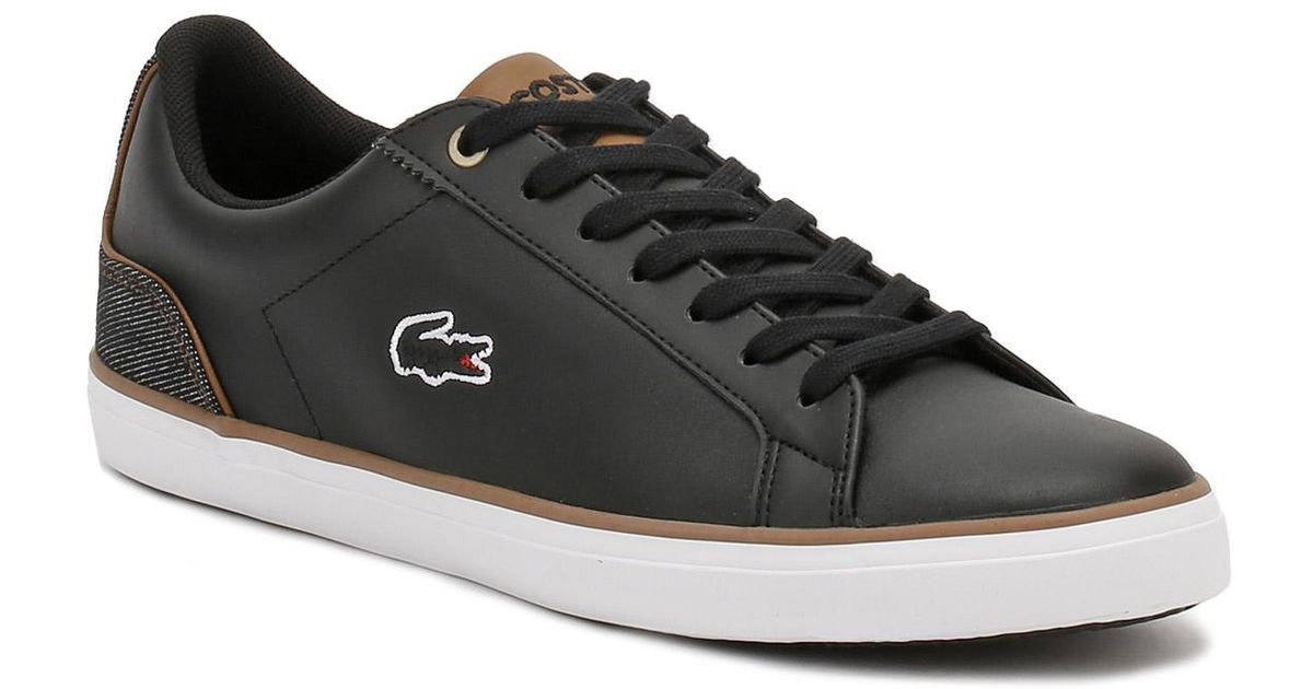 6c0a0a184 Lyst - Lacoste Mens Black   Brown Lerond 317 3 Trainers in Black for Men