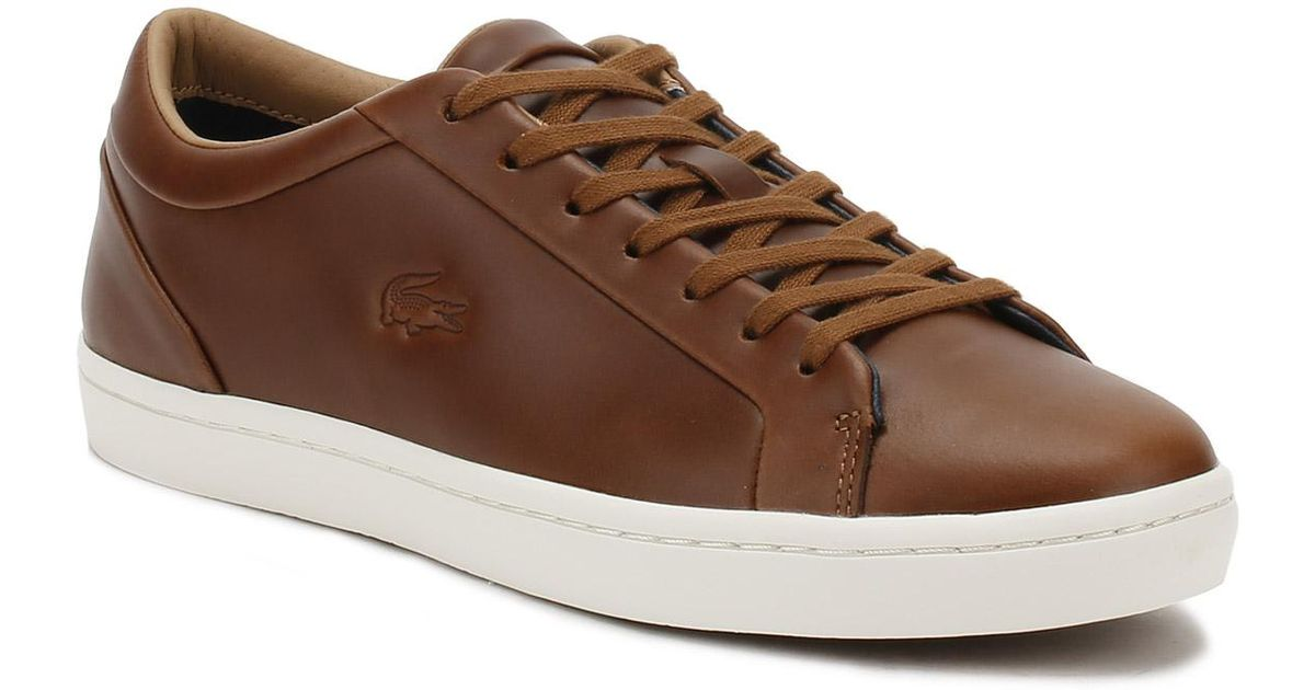 0205ba06fa8d Lacoste Mens Brown Straightset 317 1 Trainers in Brown for Men - Lyst