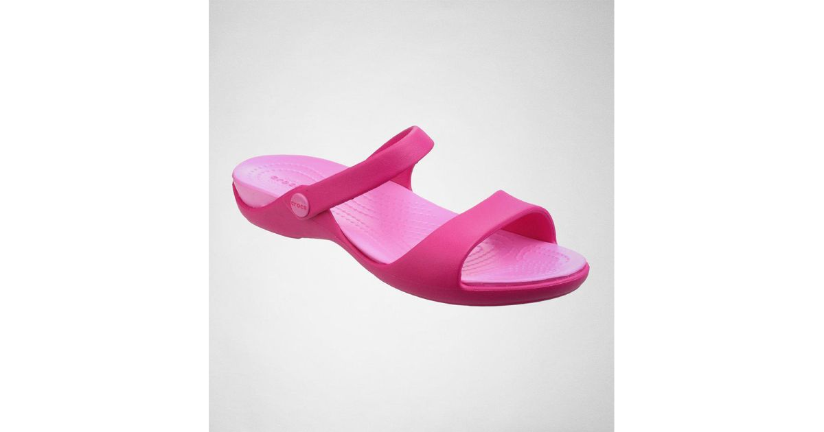 472783db0418 Crocs™ Cleo V Candy Pink party Pink Flip Flops in Pink - Save 23% - Lyst