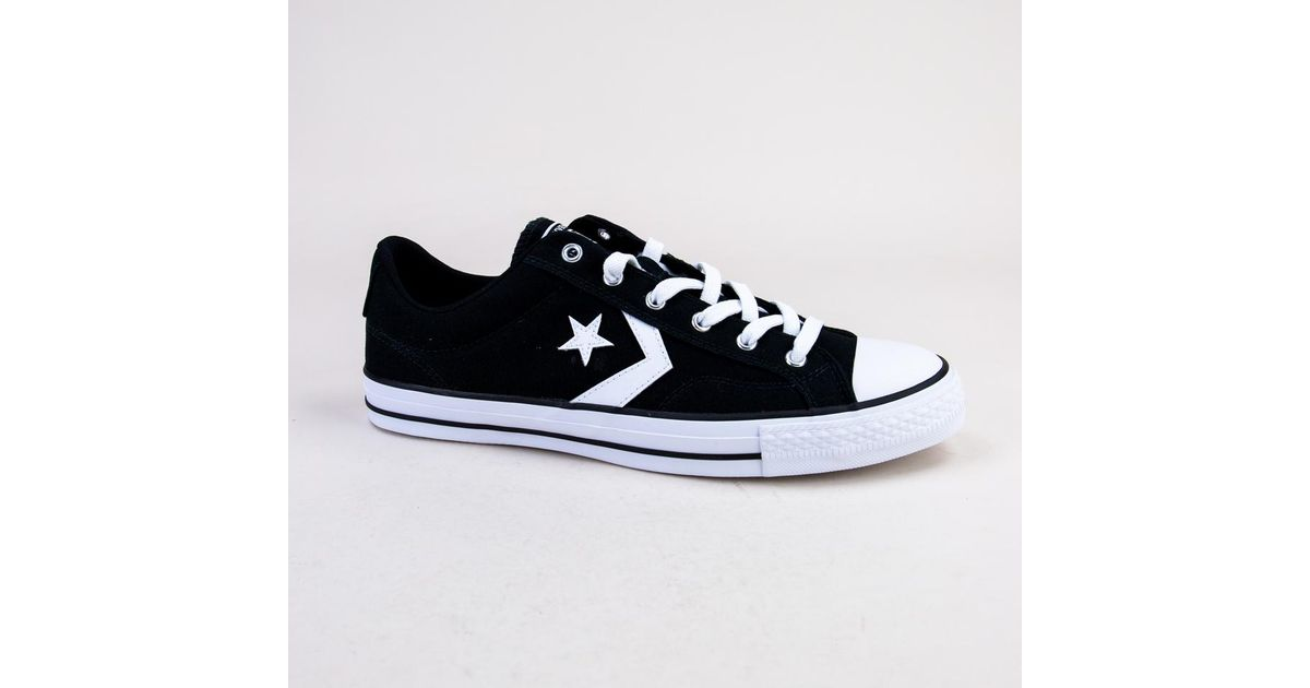 ebda4cffdc6 Converse 161595c Star Player Ox Black-white-white Trainers in Blue for Men  - Lyst