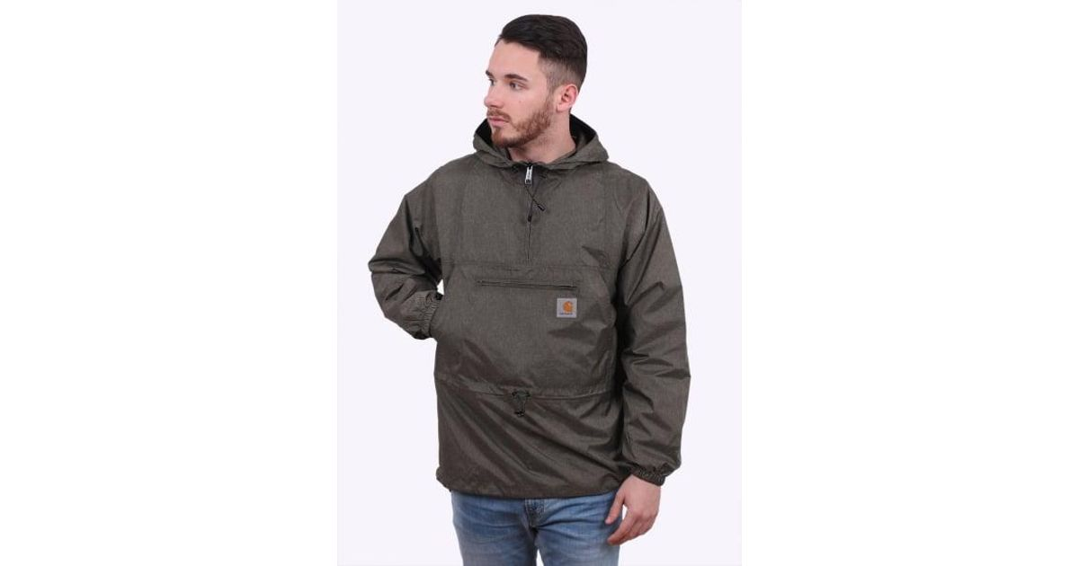 look for new york on feet shots of Carhartt Gray Spinner Pullover Jacket for men