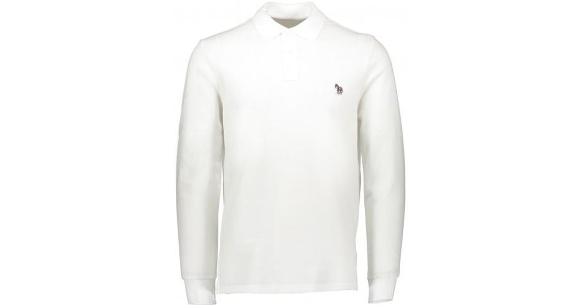 c3a7419d Paul Smith Ls Polo in White for Men - Lyst