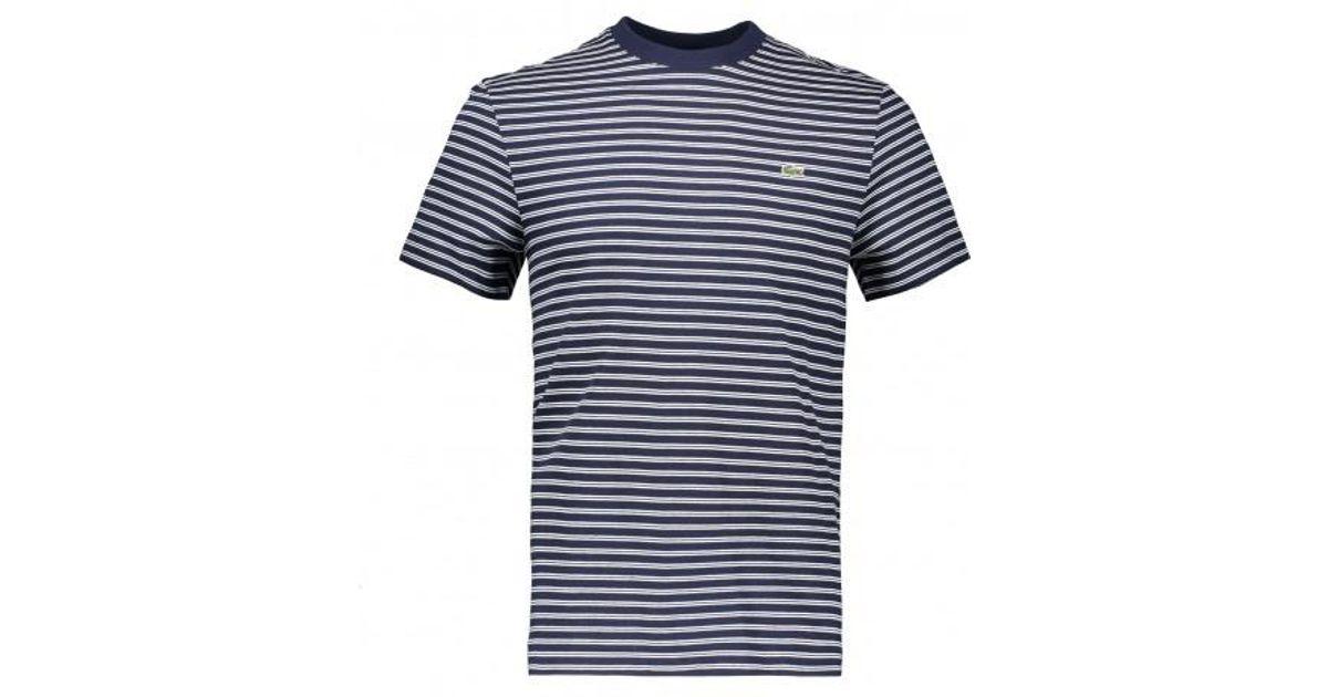 bbc53c1b Lacoste Stripe Tee in Blue for Men - Lyst
