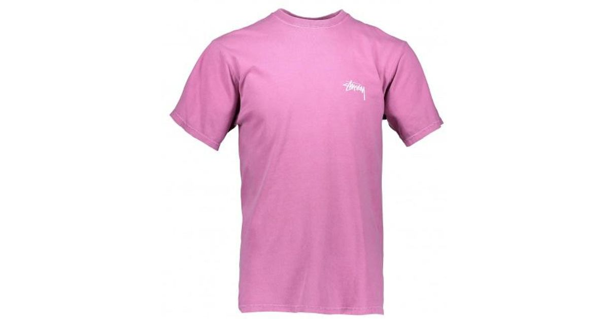 4adf35f7f8b Stussy Tribeman Pig. Dyed Tee in Pink for Men - Lyst