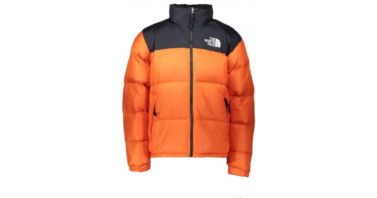 Lyst - The North Face Nuptse 1996 Jacket in Orange for Men 43376b00a