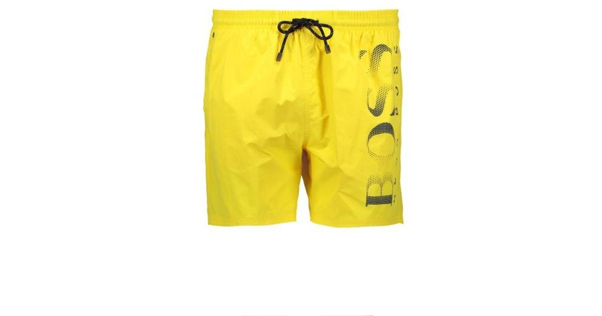 c182b8bbd BOSS Octopus Shorts in Yellow for Men - Lyst