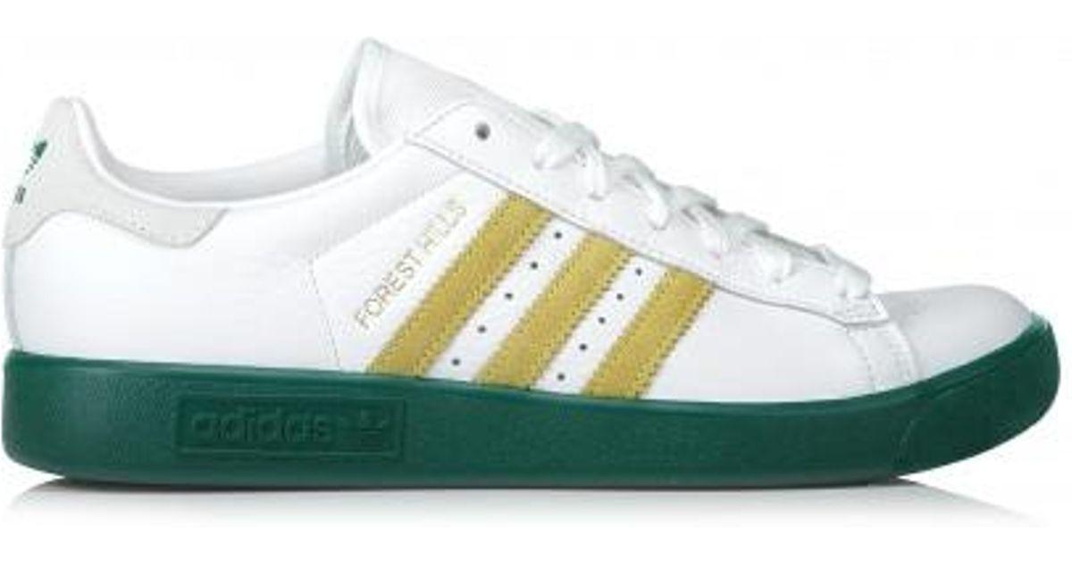 4db0c105213fce adidas Originals Forest Hills White   Collegiate Green Trainer in Green for  Men - Lyst
