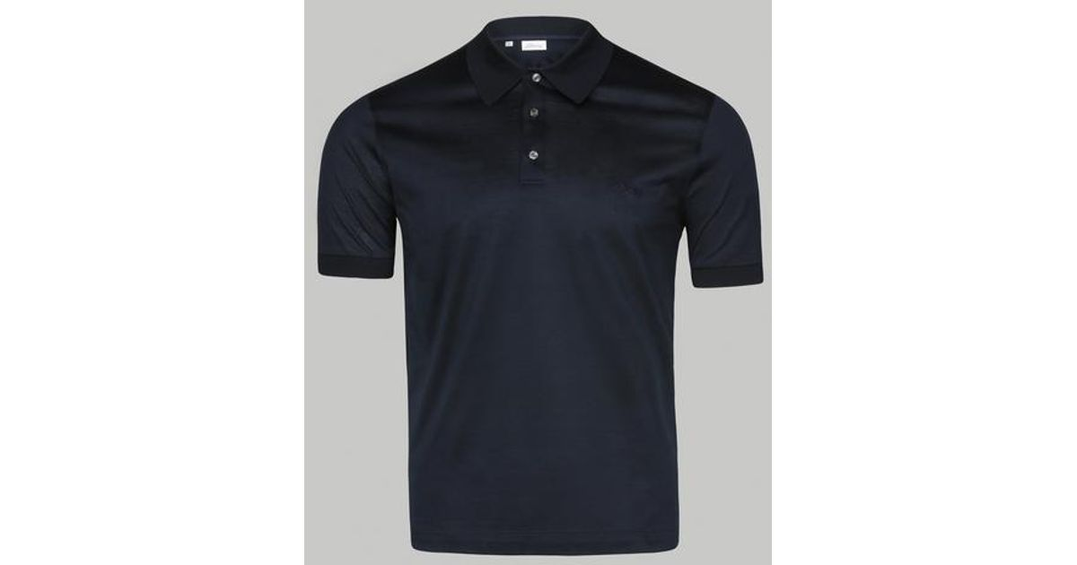 465b8d8b7 Brioni Navy Embroidery Polo in Blue for Men - Lyst