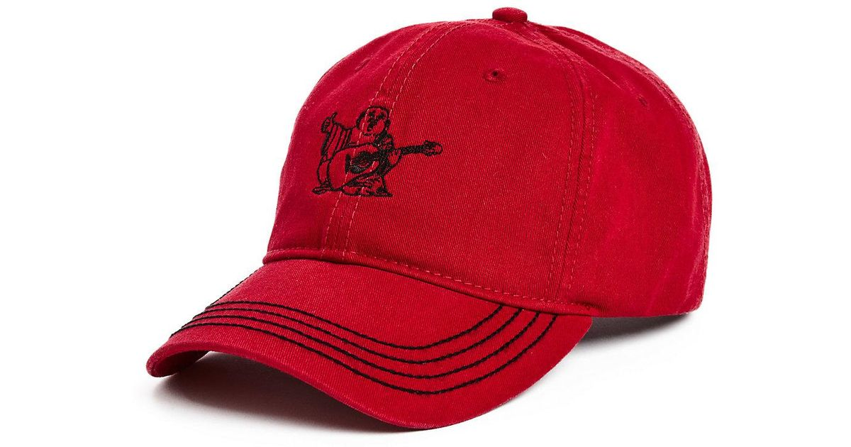 8fb3bd56762 Lyst - True Religion Core Buddha Hat in Red for Men