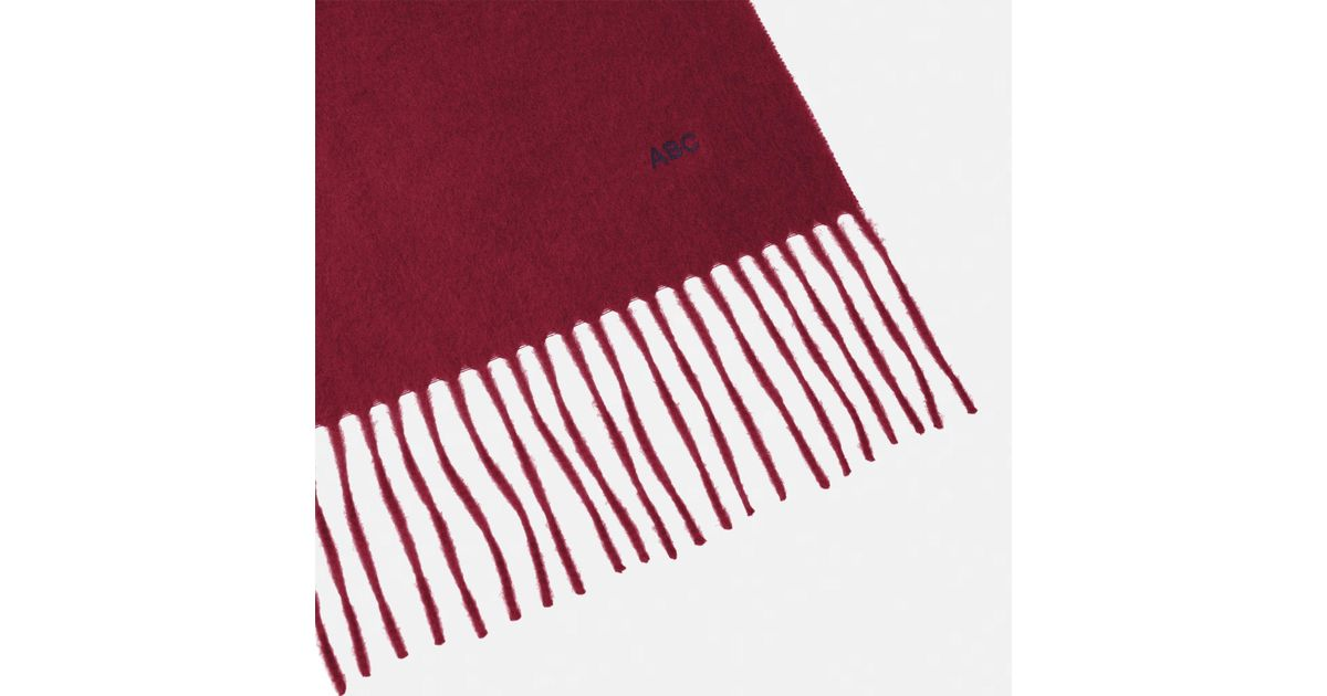 98175bdb16185 Turnbull & Asser Monogrammed Bordeaux Pure Cashmere Scarf in Red for Men -  Lyst