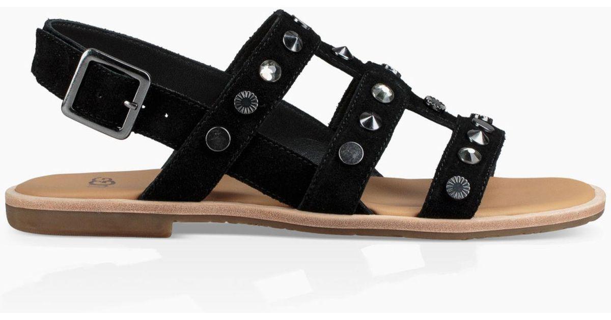 cc9eced2d Lyst - UGG Zariah Studded Bling Sandal Zariah Studded Bling Sandal in Black