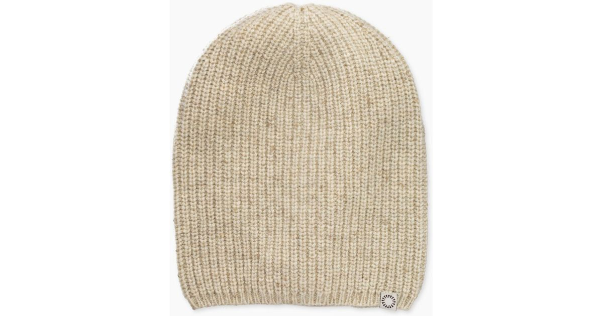 Lyst - UGG Men s Cardi Stitch Slouchy Beanie in Natural for Men 48a628858852
