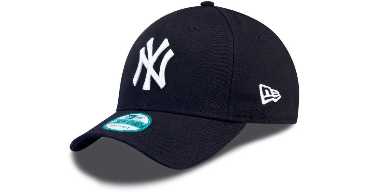 19d70bc1b23 KTZ 9forty New York Yankees Adjustable Baseball Cap in Blue for Men - Lyst