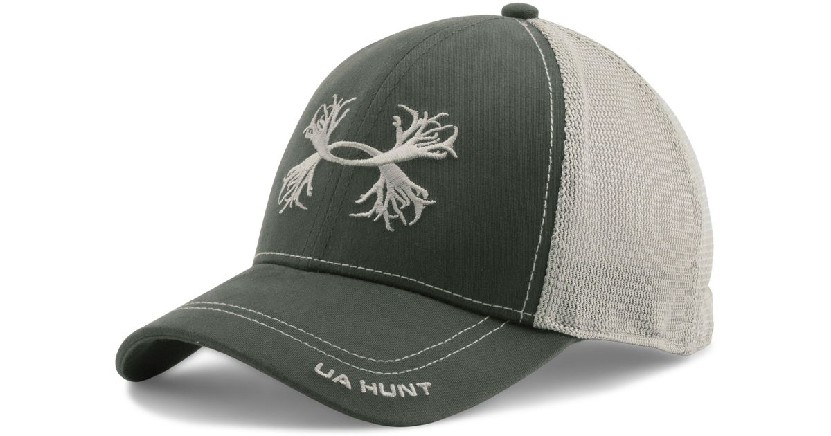 a78d129fe60 ... hat d5663 8a668  promo code for lyst under armour mens ua antler mesh  cap in green for men 8db1c