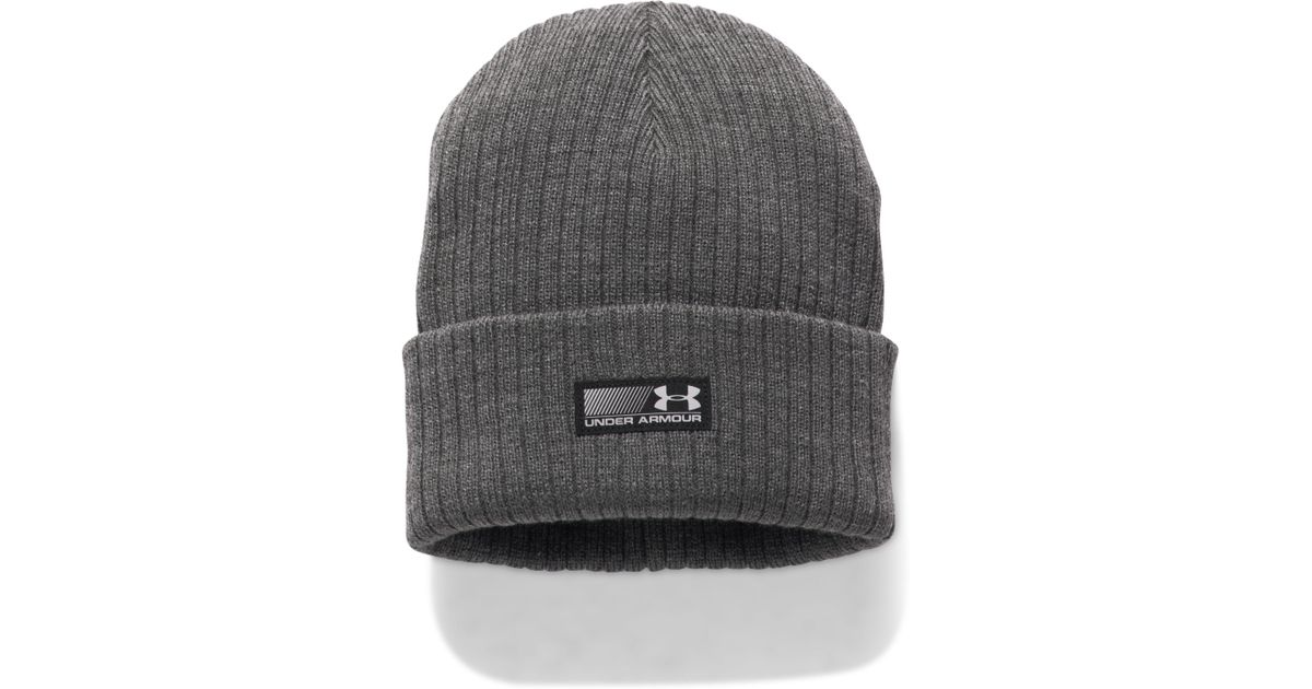 ed88fe74a62092 Under Armour Truck Stop Beanie in Gray for Men - Save 24% - Lyst