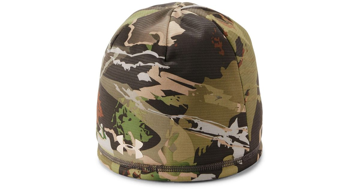 e695558e67c39 Lyst - Under Armour Cozy Camo Beanie in Green