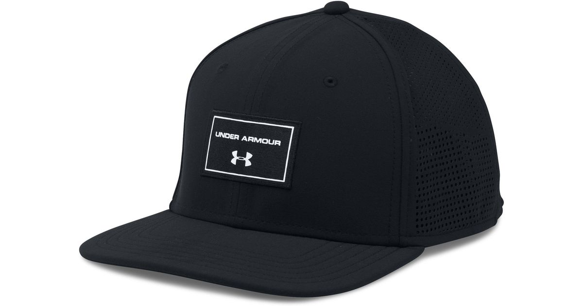 Lyst - Under Armour Supervent Flat Brim Snapback Hat in Black for Men 781ac523eaa