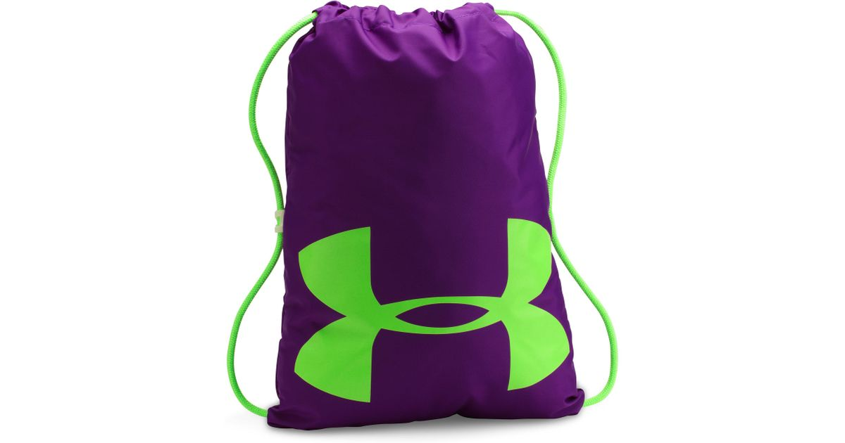 7f1ca8b705ec Lyst - Under Armour Ua Ozsee Elevated Glow Sackpack in Purple