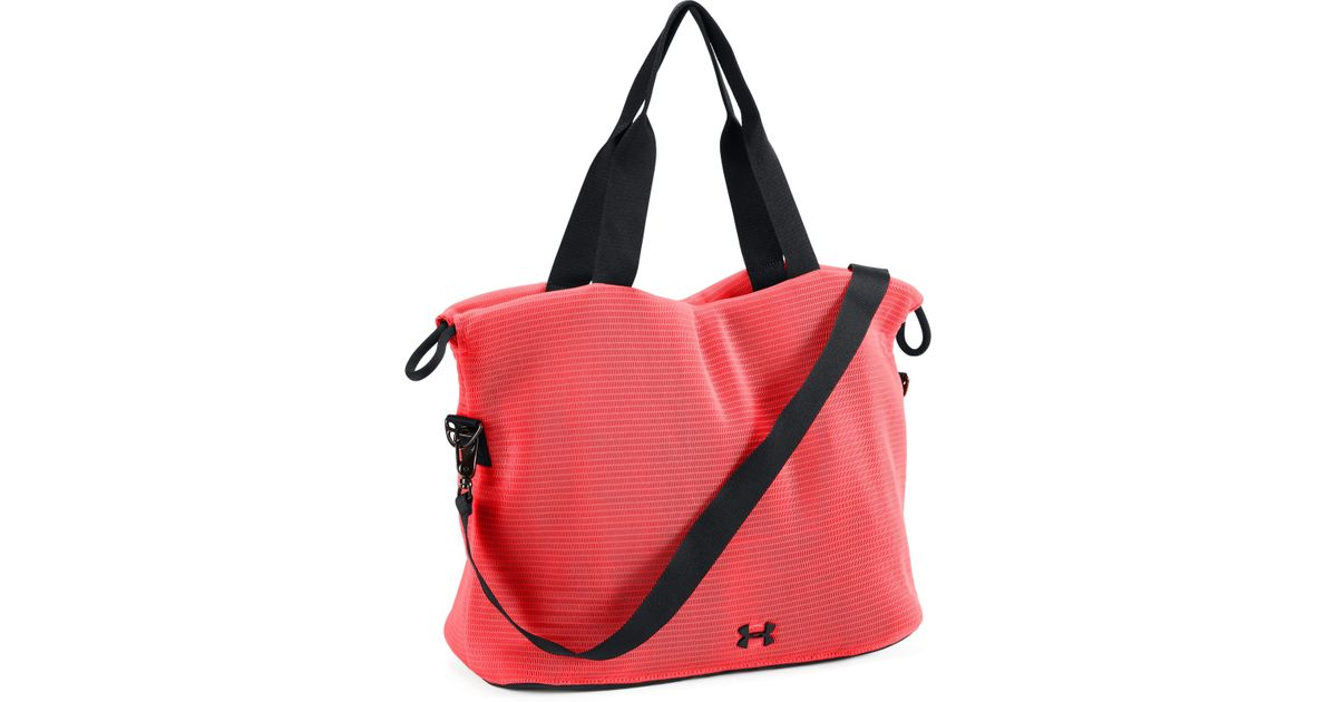 4ae485d80d51 Lyst - Under Armour Women s Ua Cinch Mesh Tote in Red