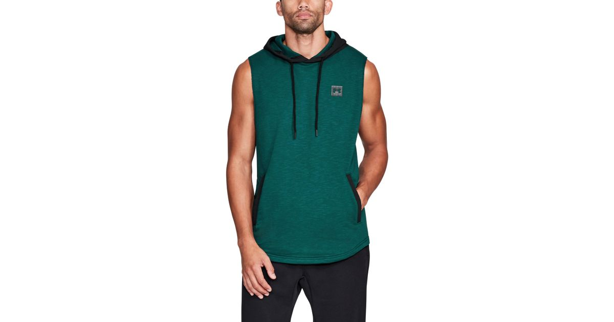 sale retailer 580fd bf88e Under Armour Men s Ua Sportstyle Sleeveless Hoodie in Green for Men - Lyst