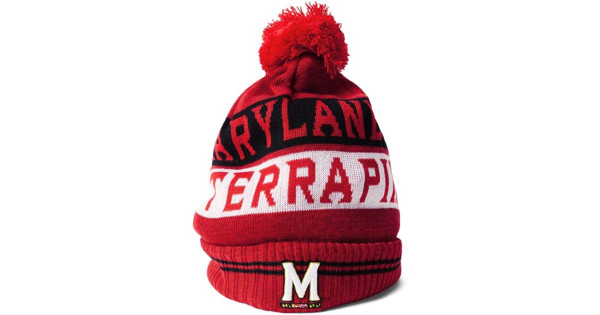 Lyst - Under Armour Men s Maryland Ua Pom Beanie in Red for Men 406e855e08d
