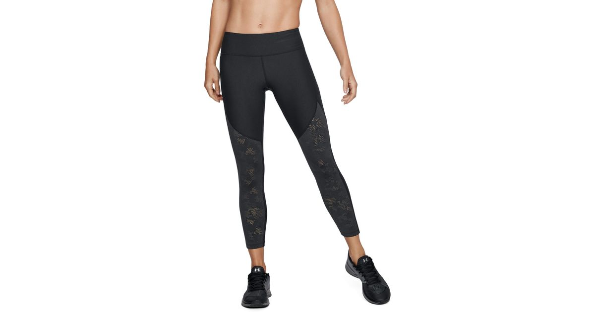 c0467c67edda4 Under Armour Women's Ua Vanish Mesh Ankle Crop in Black - Lyst