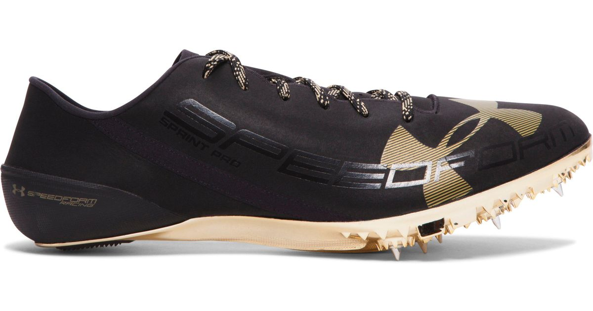 online store c09d0 85e2c ... reduced under armour ua speedform sprint pro track spikes in black for  men lyst 5584a 99309