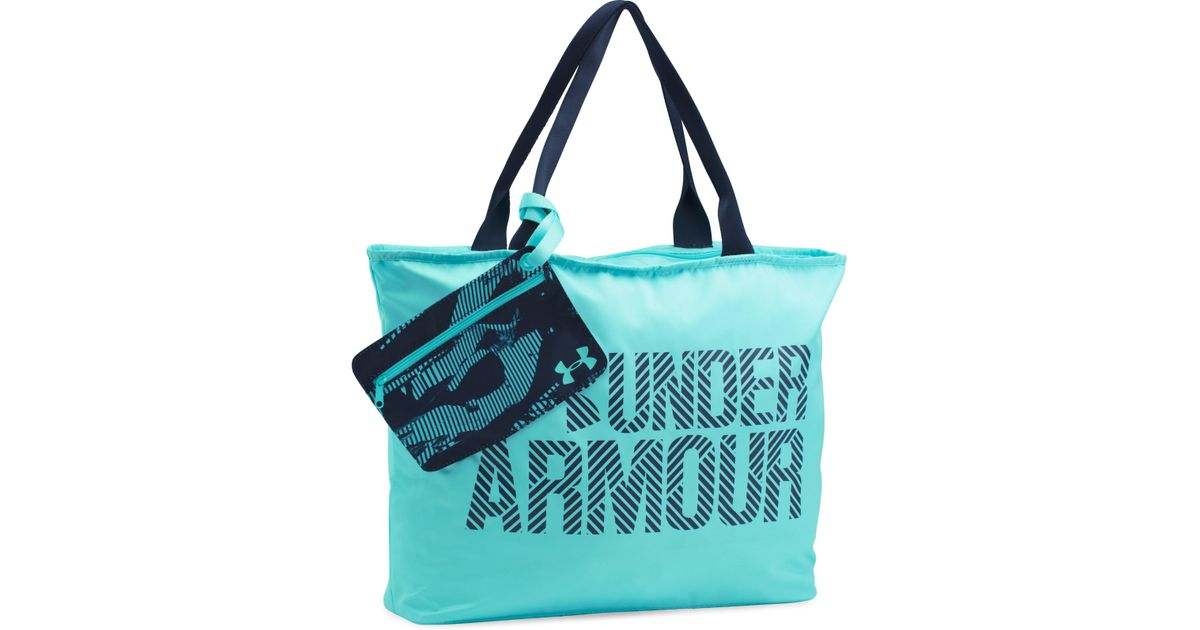 Lyst - Under Armour Women s Ua Big Wordmark Tote 2.0 in Blue e99bfd9270bbf