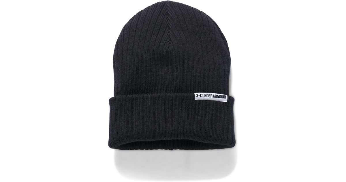 ecaf81ed6b7 ... coupon code for lyst under armour womens ua boyfriend cuff beanie in  black for men f7a3e