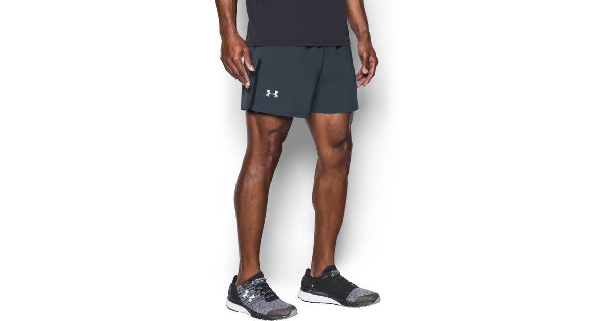 bcfb6ed0b5 Under Armour Men's Ua Launch Sw 5'' Shorts in Gray for Men - Lyst
