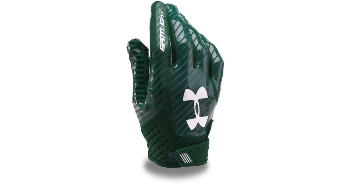 08dc00a4bd872 Under Armour Men's Ua Spotlight Football Gloves in Green for Men - Lyst