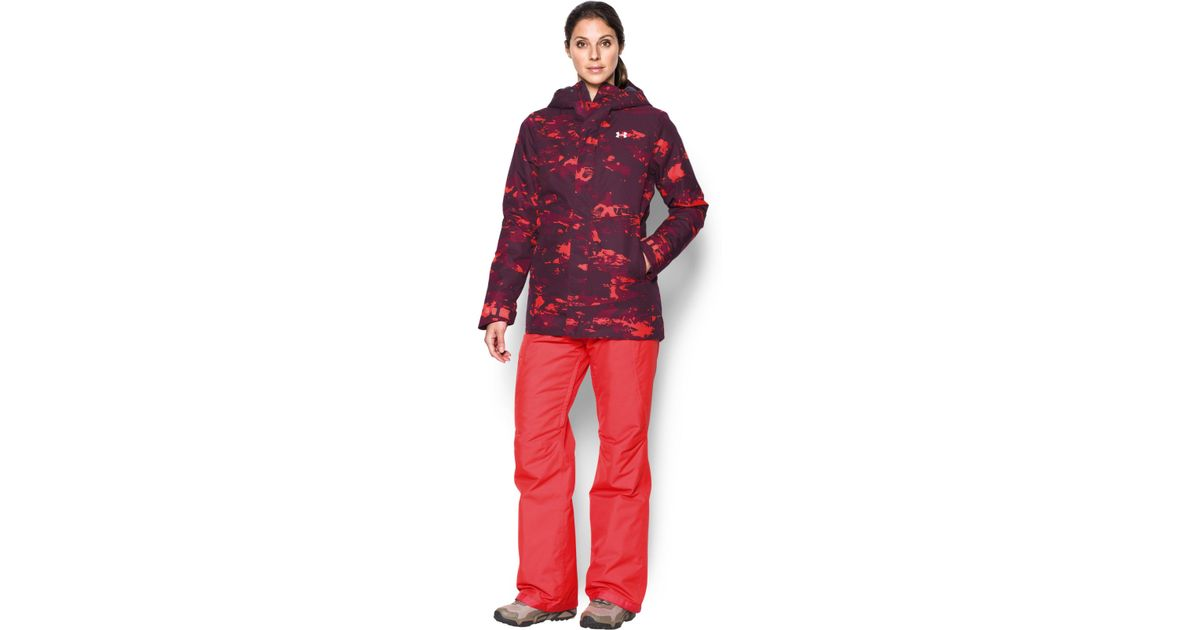 61061f636 Under Armour Women's Coldgear® Infrared Powerline Insulated Jacket in Red -  Lyst