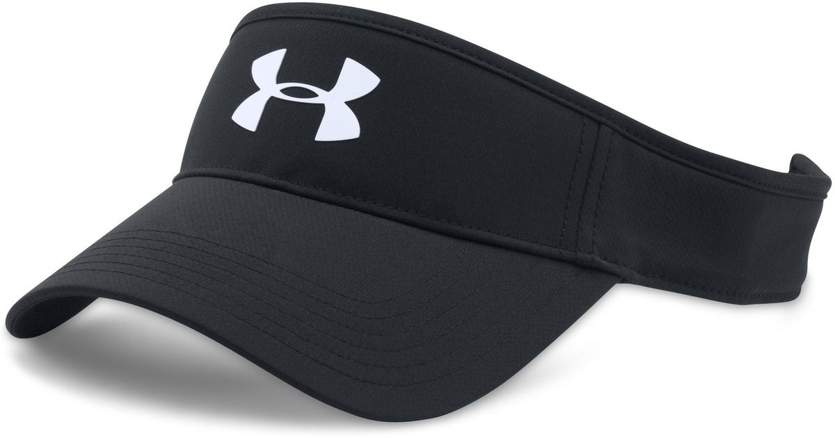 Lyst - Under Armour Core Golf Visor in Black for Men - Save 45% 32f16f97873