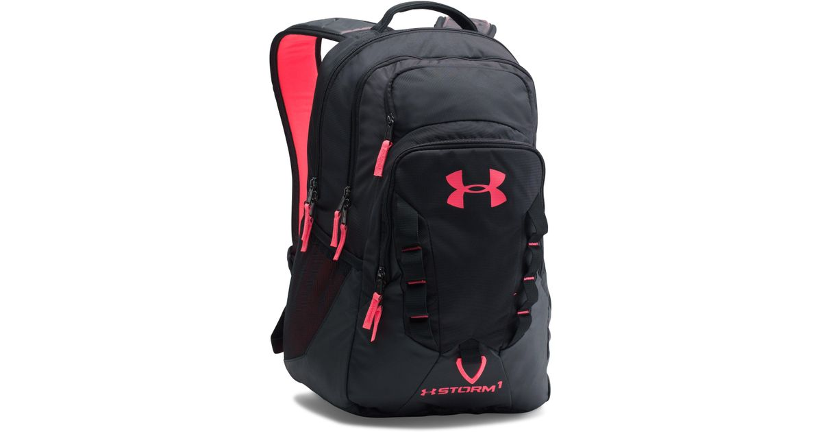 857750e659 Lyst Under Armour Ua Storm Recruit Backpack In Black