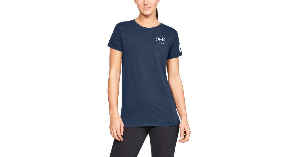 80fb422e60 Under Armour - Blue Women's Ua Freedom Flag T-shirt - Lyst