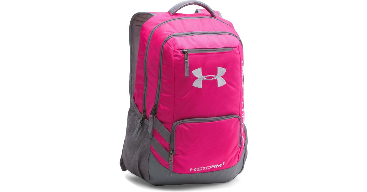 4ea2a363d0 ... huge discount 24fc4 dd8c9 ... lyst under armour ua team hustle backpack  in pink ...