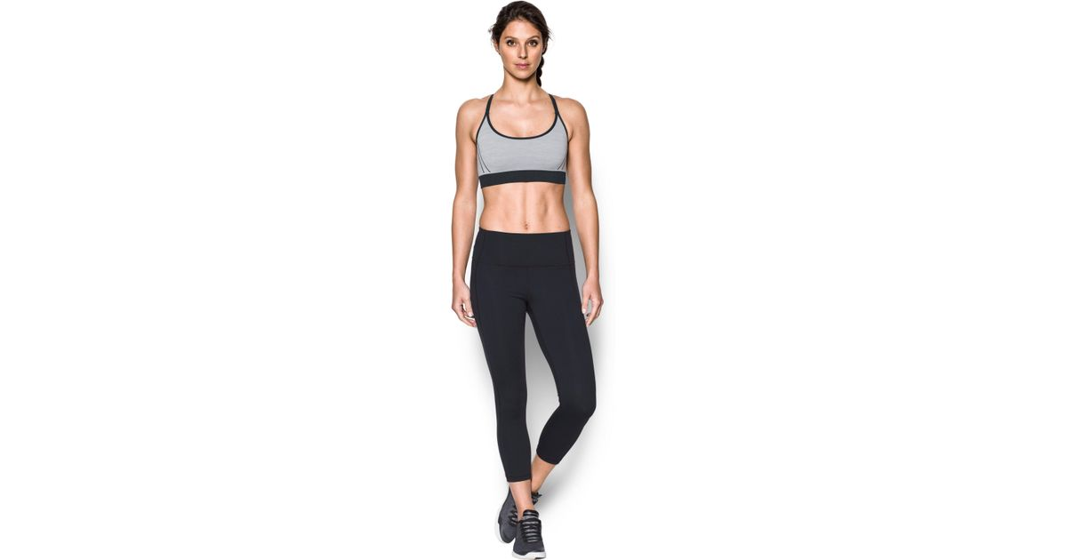 85e7af3c3b633 Lyst - Under Armour Women s Ua Threadbornetm Seamless Low Pop Sports Bra in  Black