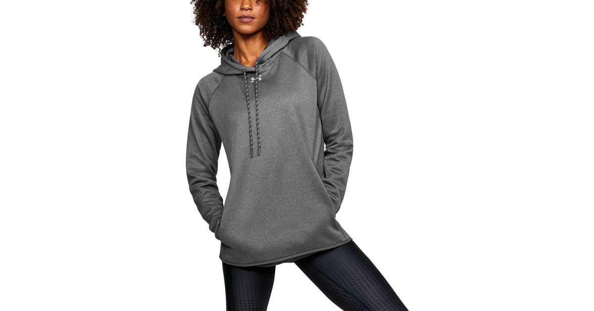 7b16490bcd76 Lyst - Under Armour Women s Ua Double Threat Armour® Fleece Hoodie in Gray