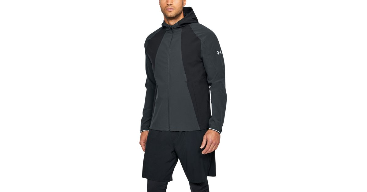 Under Armour Men S Ua Outrun The Storm Jacket In Black For Men Lyst
